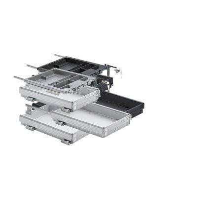 HETTICH 20712 konténer szett 392/730 mm alumínium