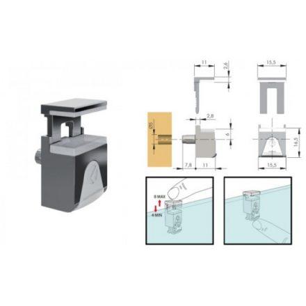 K-IF-Kubic polctartó üvegre 4-8mm