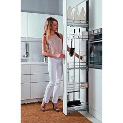 VIBO Slim kosár kihúzható szekrény 150mm takarítás jobbos