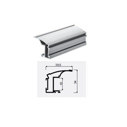 HETTICH 9139149 ArciTech haránt magasító korlát 350 mm ezüst
