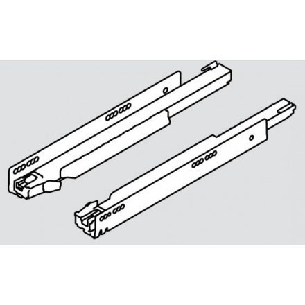 K-BLUM Legrabox C 550mm/40kg,Tip-on,fekete,belső,üveg