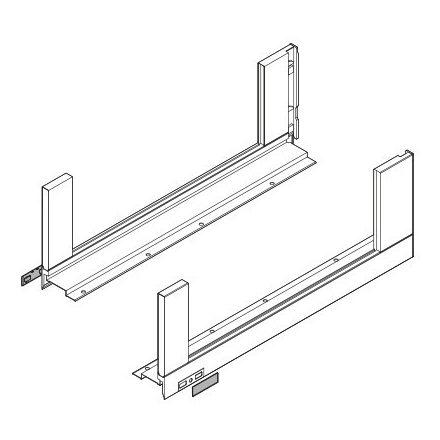 K-BLUM Legrabox Free 650mm/70kg,TIP-ON,szürke,csavar