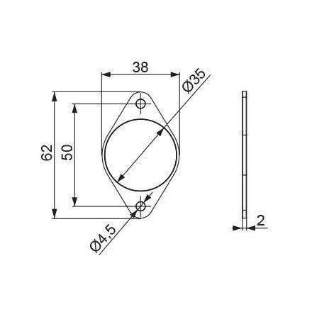 LEHMANN Műanyag típus 021 rögzítő adapterhez 309274