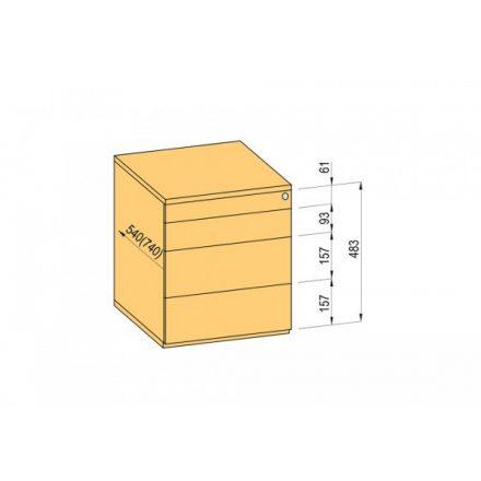 K-BBP konténer TipAer komp.540mm típ.1/vál. 9 (fémfiók,részl.kih.,fo.né.)
