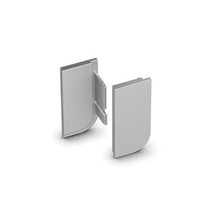 HETTICH 9210126 Végzáró fogantyú profilhoz Canis L, jobbos+balos, alumínium fin