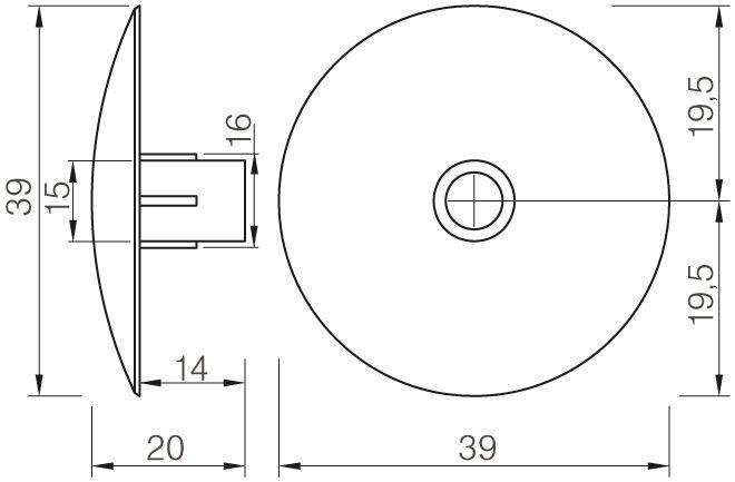 Csúszó talp rápattintható 464 5 mm fekete